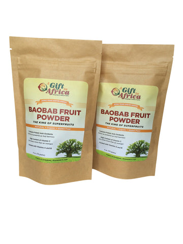 Baobab Fruit Powder - Double Pack 4oz and 7oz