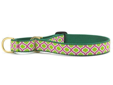 Up Country Collar: Green Kismet Medium