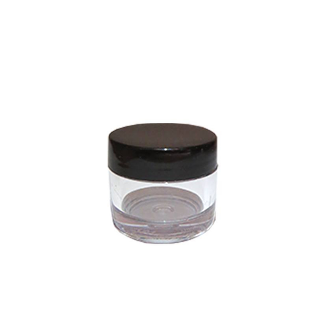 Empty Clear 7g Jar with Black Bore Seal Cap - Pack of 10 - Naio Nails - 2