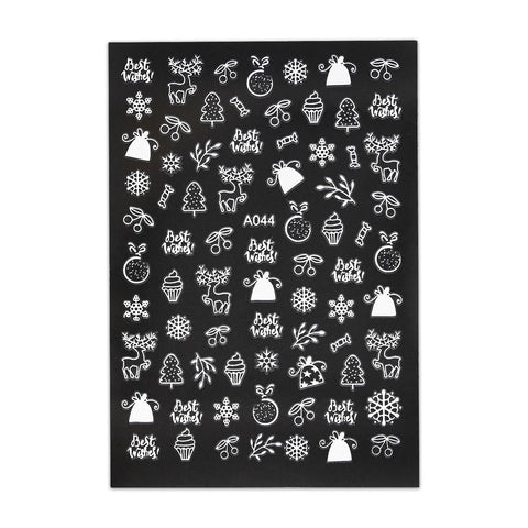 (NEW) Christmas Sticker - Christmas Tree and Reindeer