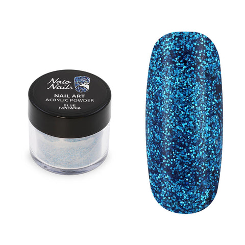 Blue Fantasia Glitter Acrylic Powder 12g