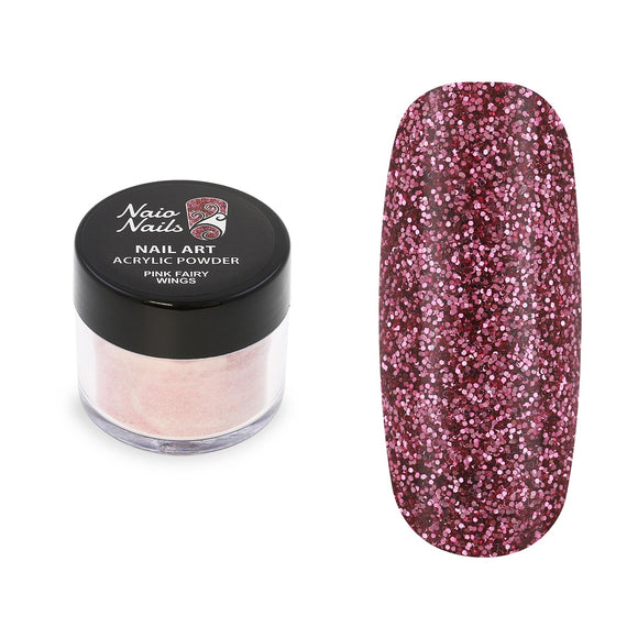 Pink Fairy Wings Glitter Acrylic Powder 12g