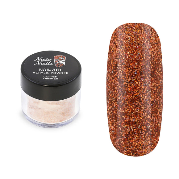 Copper Shimmer Acrylic Powder