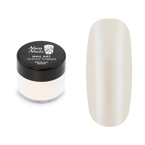 Metallic White Acrylic Powder 12g