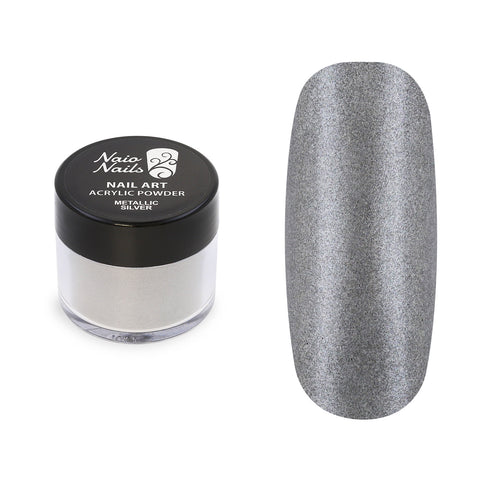 Metallic Silver Acrylic Powder