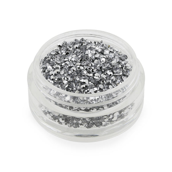 Clear Silver Backed Crystals - 1mm (6g Pot)