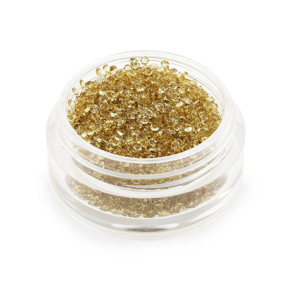 Clear Gold Crystals - 1mm (6g Pot)