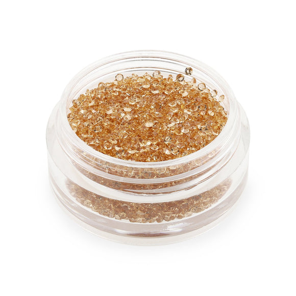 Clear Peach Crystals - 1mm (6g Pot)