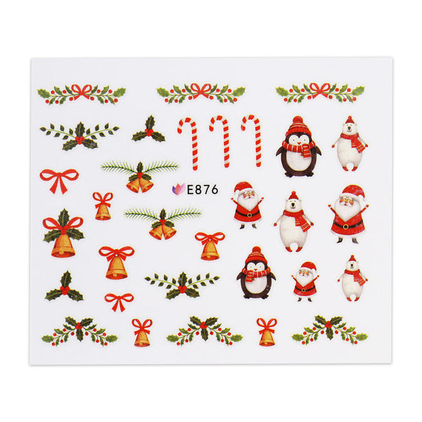 Christmas Sticker - Santa and Decorations