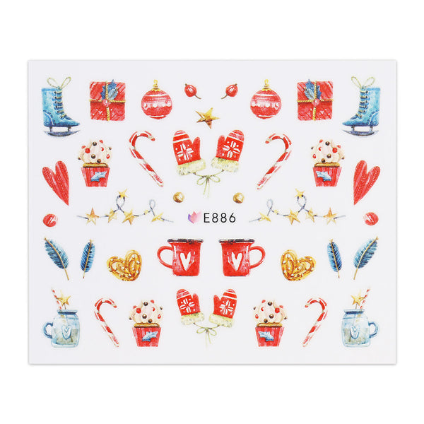 Christmas Sticker - Christmas Decs and Mittens