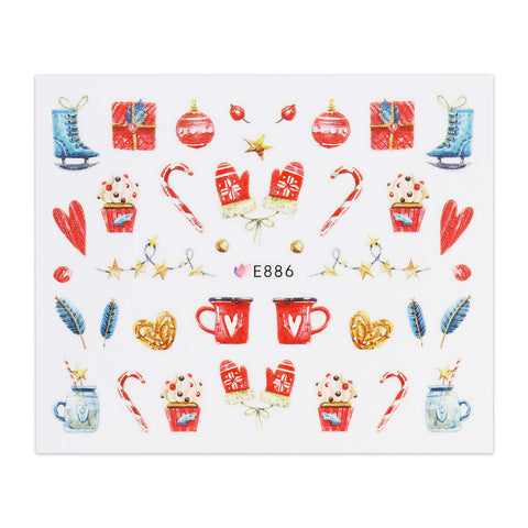 (NEW) Christmas Sticker - Christmas Decs and Mittens