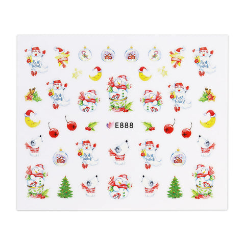 Christmas Sticker - Snowman and Christmas Trees