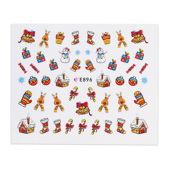 Christmas Sticker - Gingerbread House and Stockings