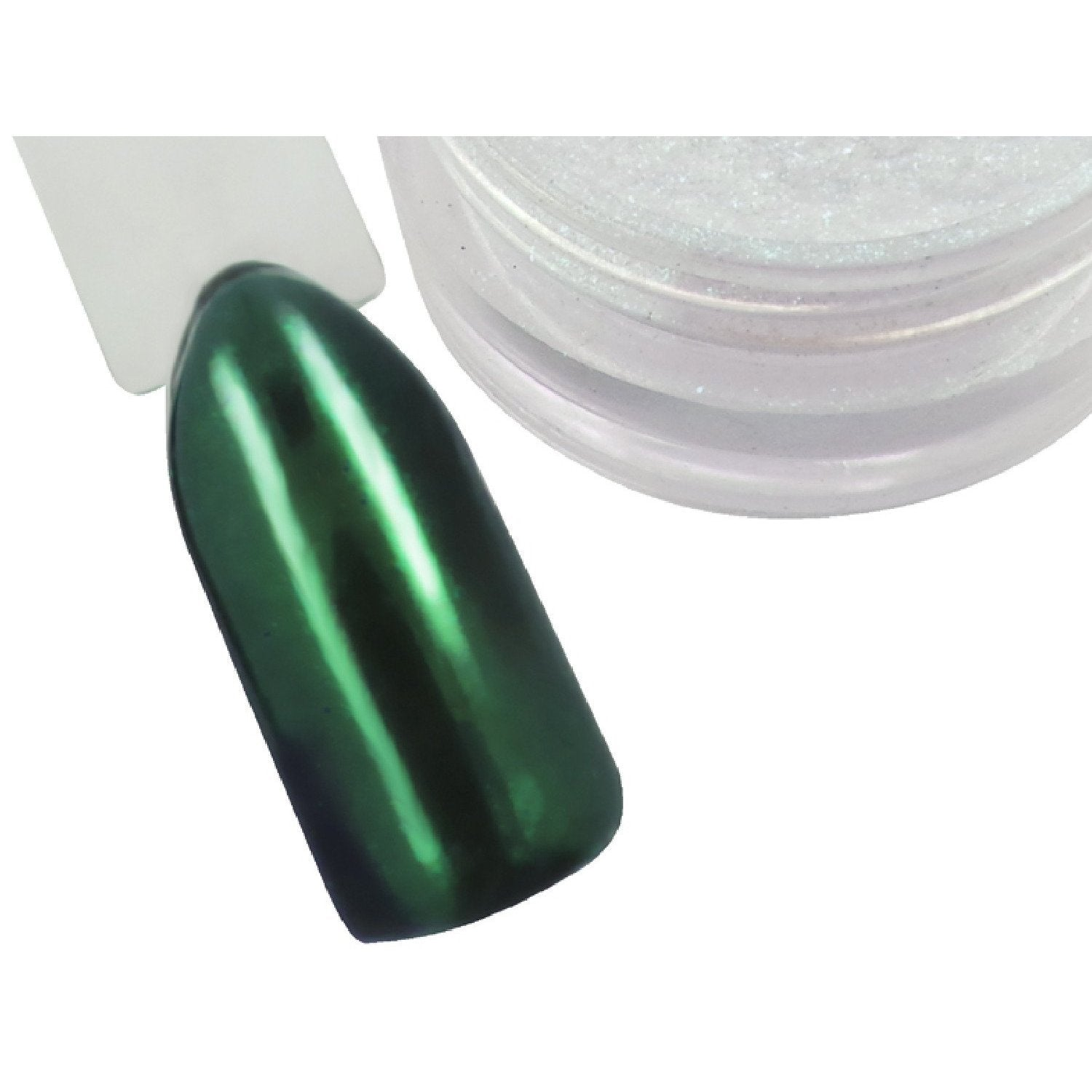 Emerald Chrome Pigment Powder - Naio Nails - 1
