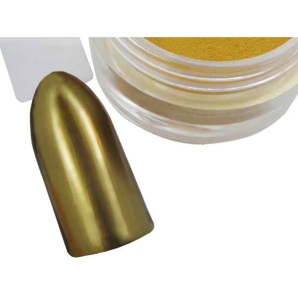 Gold Chrome Pigment Powder - Naio Nails - 1