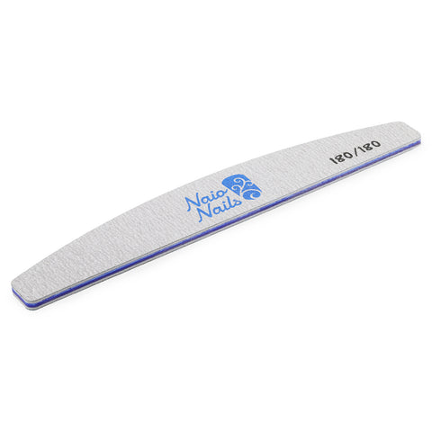 Pack of 25 - Zebra Grey Half Moon 180/180 Grit Nail Files