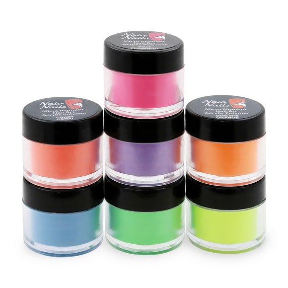 Classic Neon Collection Acrylic Powder Set of 7