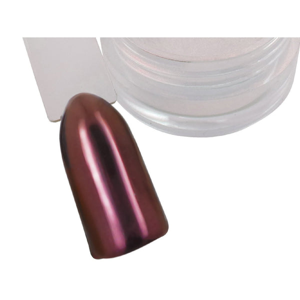 Ruby/Burgundy Chrome Pigment Powder - Naio Nails - 1