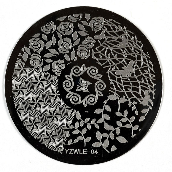 Stamping Plate - YZWLE-04 | Naio Nails