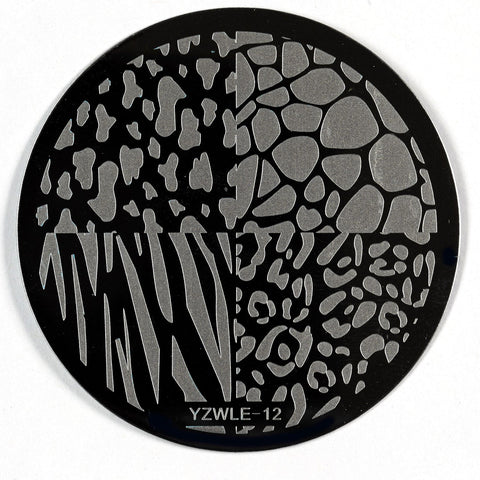 Stamping Plate - YZWLE-12 | Naio Nails