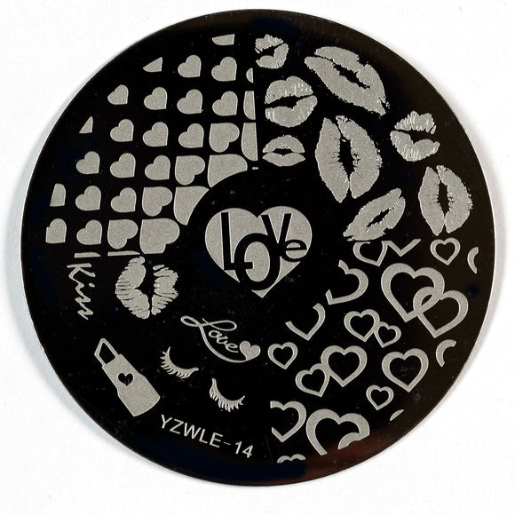 Stamping Plate - YZWLE-14 | Naio Nails