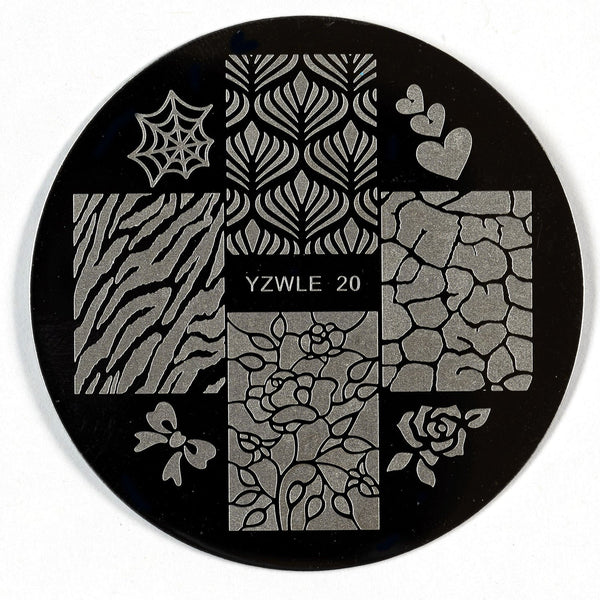 Stamping Plate - YZWLE-20 | Naio Nails