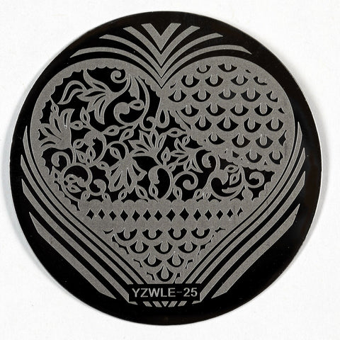 Stamping Plate - YZWLE-25 | Naio Nails