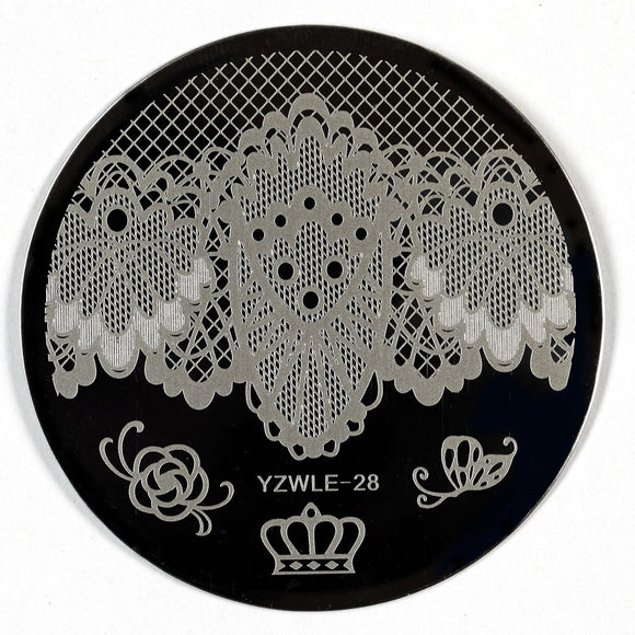 Stamping Plate - YZWLE-28 | Naio Nails