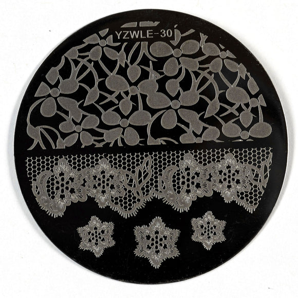 Stamping Plate - YZWLE-30 | Naio Nails