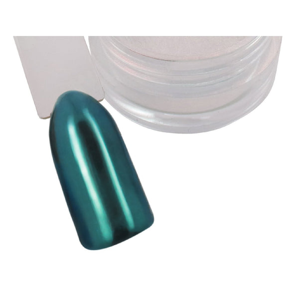 Blue Topaz Chrome Pigment Powder - Naio Nails - 1