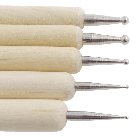 Set of 5 Wooden Dotting Tools | Naio Nails