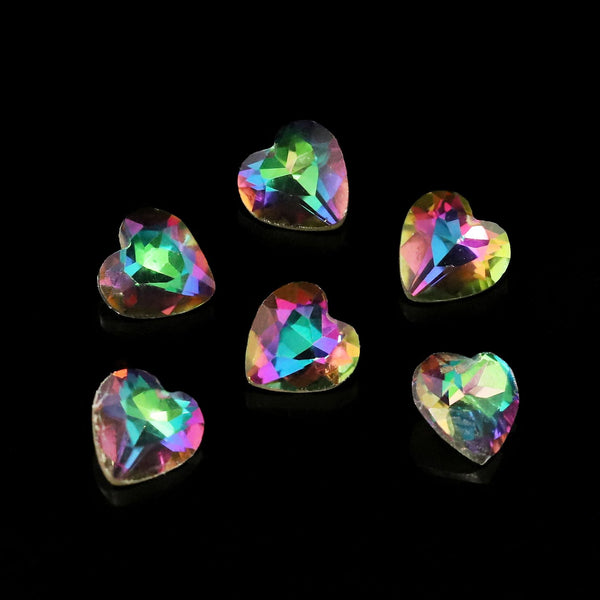 Pack of 6 Nail Art Gem Stones 6mm x 6mm - X1040