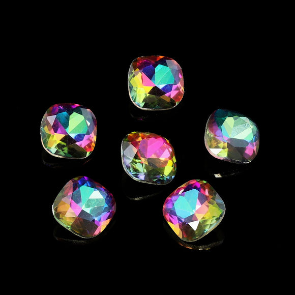 Pack of 6 Nail Art Gem Stones 6mm x 6mm - X1041