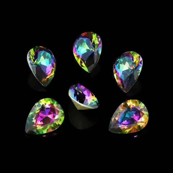 Pack of 6 Nail Art Gem Stones 6mm x 8mm - X1044