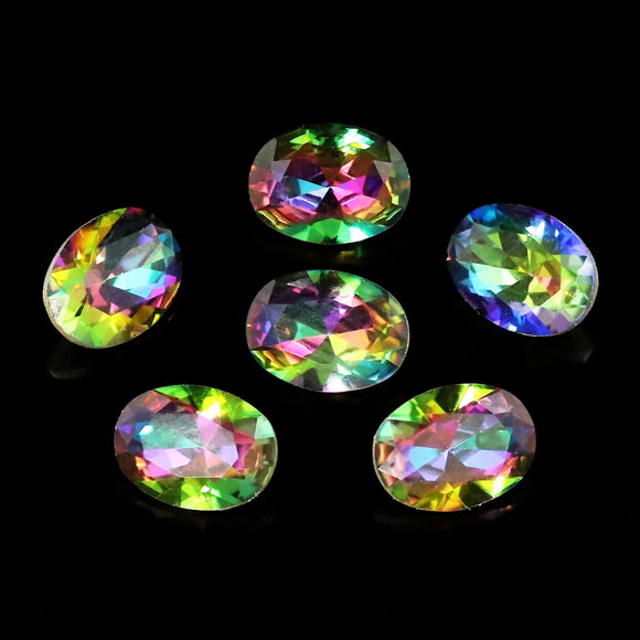 Pack of 6 Nail Art Gem Stones 6mm x 8mm - X1045