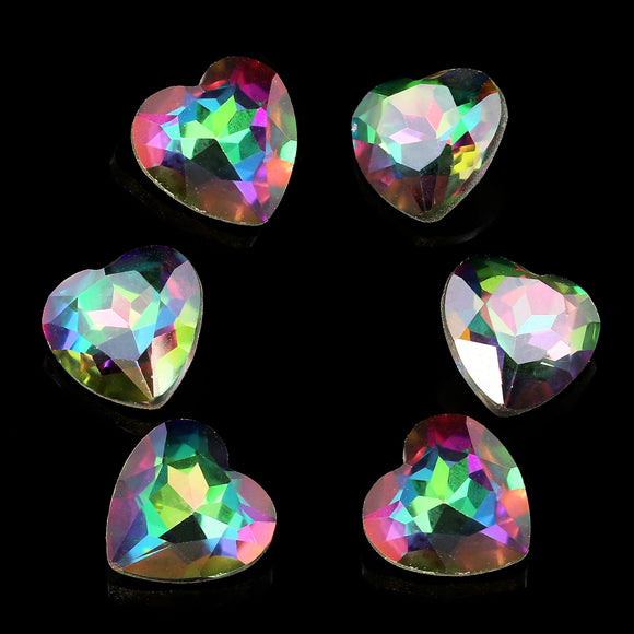 Pack of 6 Nail Art Gem Stones 8mm x 8mm - X1046