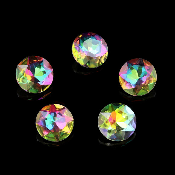 Pack of 5 Nail Art Gem Stones 8mm x 8mm - X1053