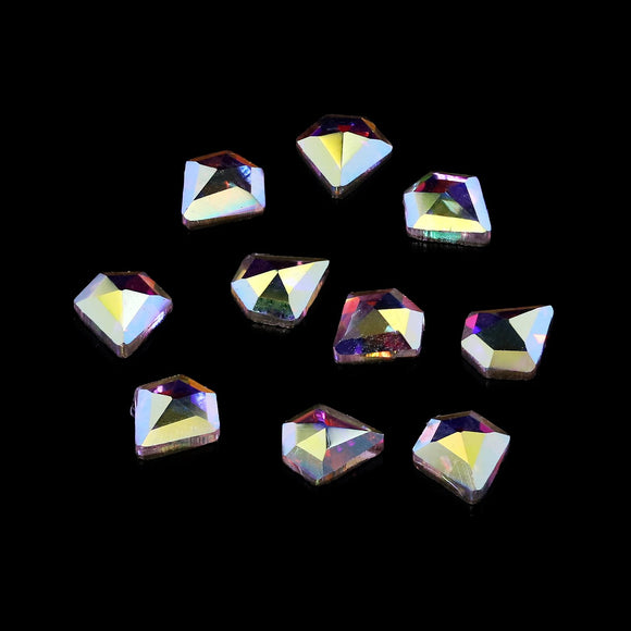 Pack of 10 Nail Art Gem Stones 4mm x 5mm - X1067