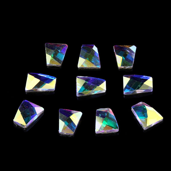 Pack of 10 Nail Art Gem Stones 3mm x 5mm x 6mm - X1079T