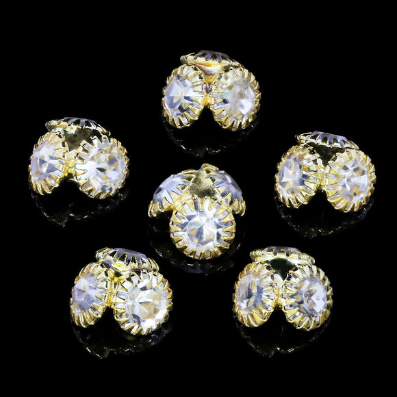 Pack of 6 Nail Art Gem Stones 7mm x 7mm - X1243