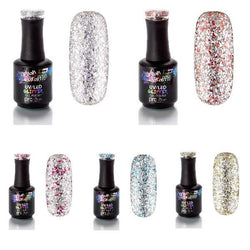 Silver Glitter Gel Polish Collection
