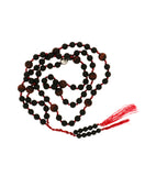 Hand made knotted red and black tassels necklace