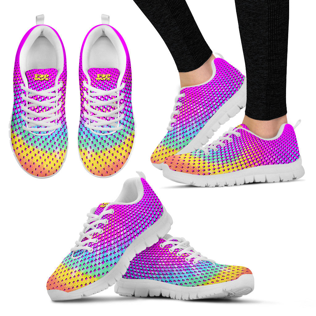 Pop Worx Polka Dot Rainbow/Ombre Running Shoes