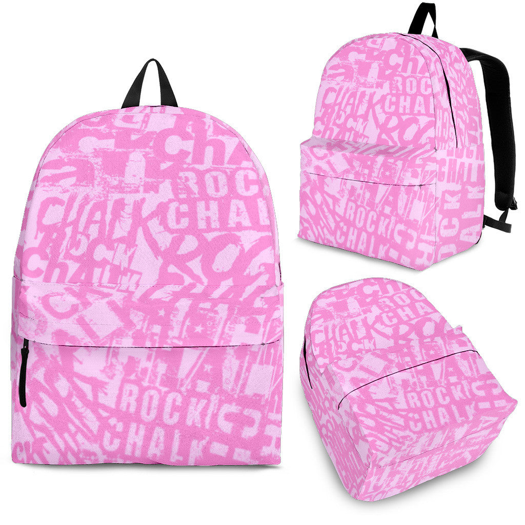 Rock Chalk Backpack (Pink)