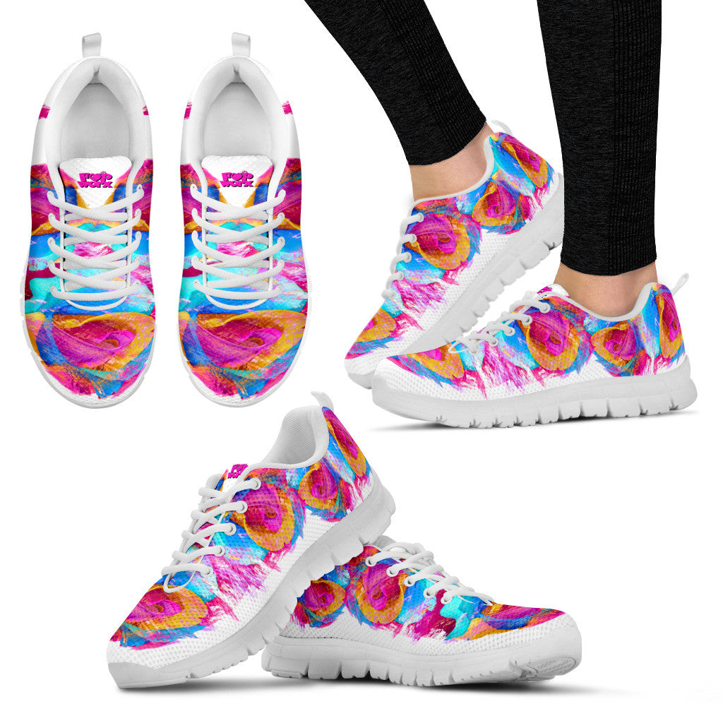 Pop Worx Pop Rose White/Yellow Running Shoes