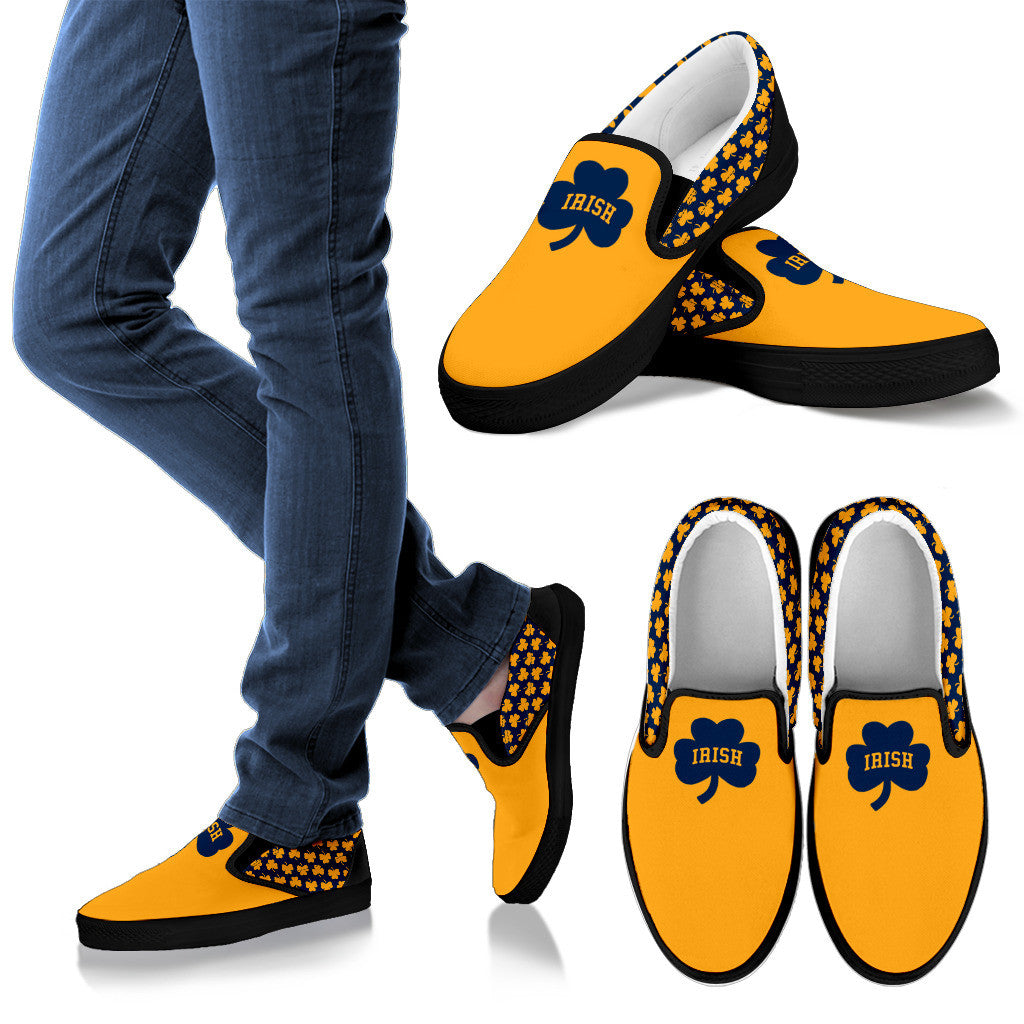 Collector Irish Blue/Gold Slip-On's