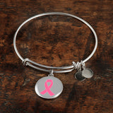 Breast Cancer Awareness Necklace and Bangle Grey Collection