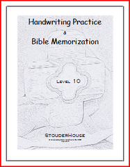 Handwriting Practice & Bible Memorization Workbook