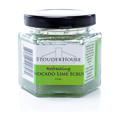 Refreshing Avocado Lime Scrub