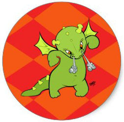 Cartoon Baby Dragon Stickers by Ellie